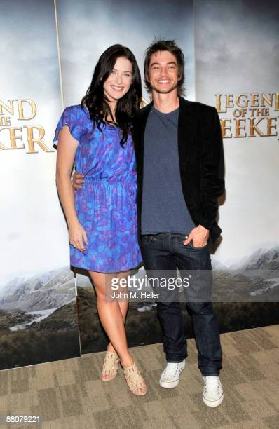 Actors Bridget Regan and Craig Horner from the television show 'Legend Of The Seeker' attend the 2009 Disney and ABC TV Summer Press Junket at the...