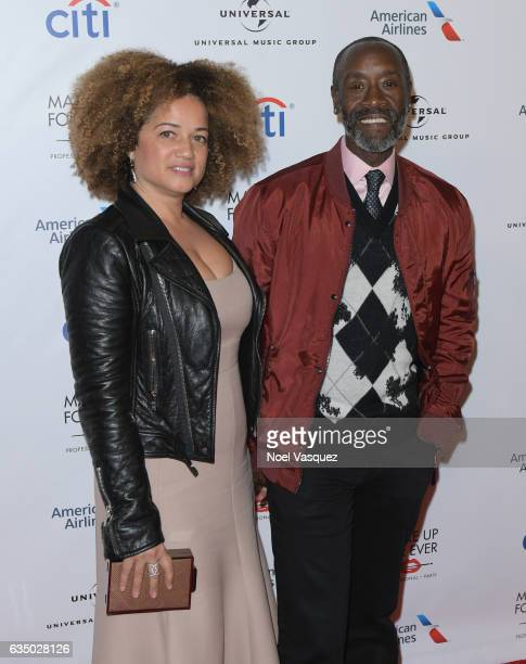 Actors Bridgid Coulter and Don Cheadle arrive at Universal Music Group 2017 Grammy after party presented by American Airlines and Citi at the Ace...
