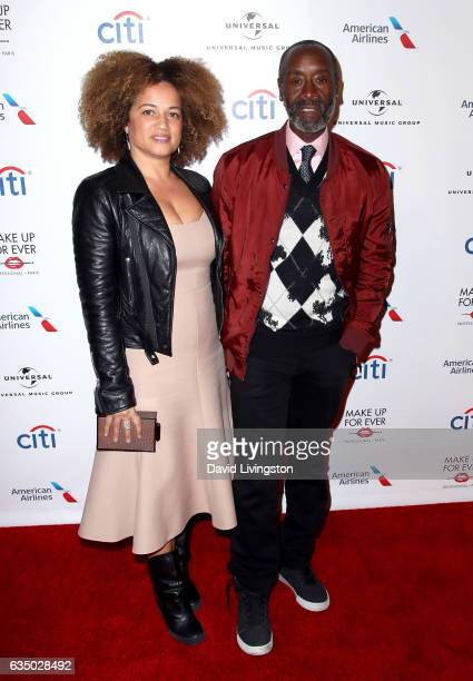 Actors Bridgid Coulter and Don Cheadle attend Universal Music Group's 2017 GRAMMY after party at The Theatre at Ace Hotel on February 12 2017 in Los...