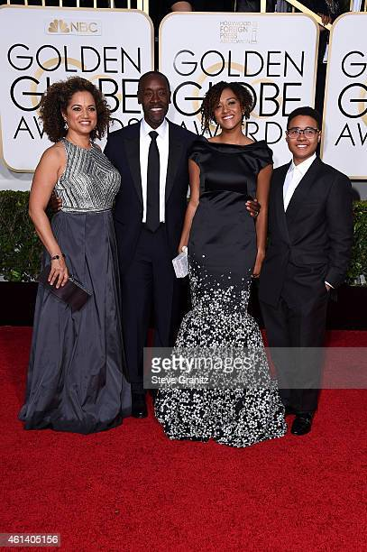Actors Bridgid Coulter Don Cheadle and guests attend the 72nd Annual Golden Globe Awards at The Beverly Hilton Hotel on January 11 2015 in Beverly...