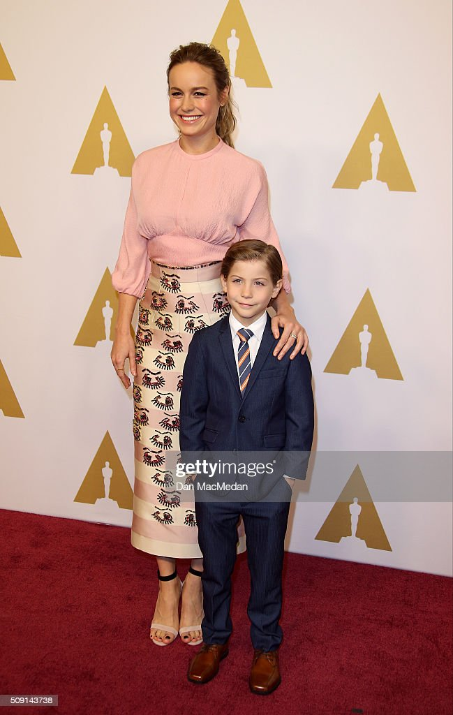 Actors Brie Larson (L) and Jacob Tremblay attend the 88th Annual Academy Awards Nominee Luncheon in Beverly Hills, California.