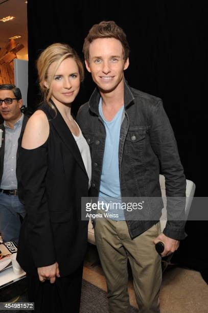 Actors Brit Marling and Eddie Redmayne attend the Variety Studio presented by Moroccanoil at Holt Renfrew during the 2014 Toronto International Film...