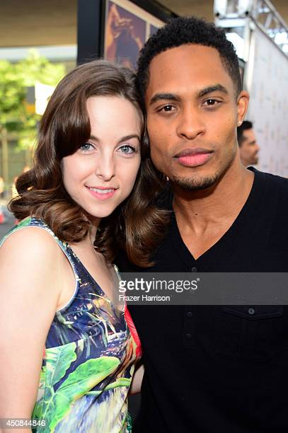 Actors Brittany Curran and Brandon P Bell attend the premiere of Dear White People during the 2014 Los Angeles Film Festival at Premiere House on...