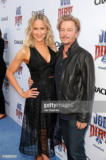 Actors Brittany Daniel and David Spade attend the world premiere of Crackle's Joe Dirt 2: Beautiful Loser at Sony Pictures Studios on Wednesday, June...
