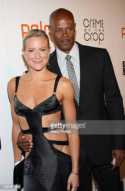 Actors Brittany Daniel and Keenen Ivory Wayans arrive at The 4th Annual Creme Of The Crop Post BET Awards Dinner Celebration at Mr Chow on June 27...