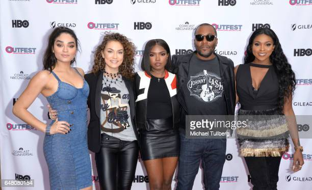 Actors Brittany O'Grady Jude Demorest and Ryan Destiny executive producer Lee Daniels and actress Amiyah Scott attend a screening of Star at the 2017...