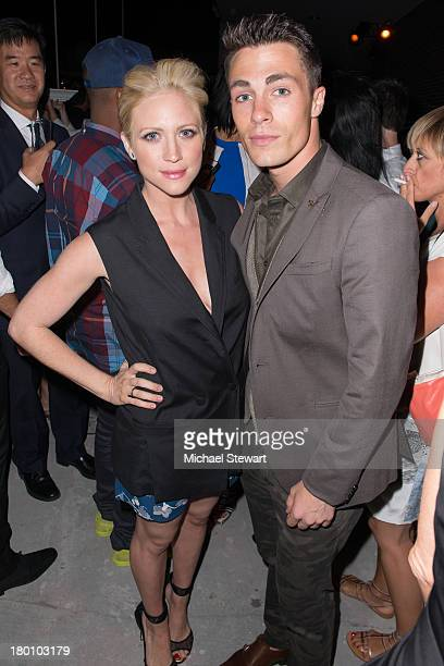 Actors Brittany Snow and Colton Haynes attend the Diane Von Furstenberg After Show Dinner at The Diller Von Furstenberg Building on September 8 2013...