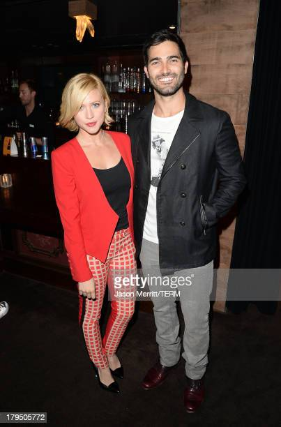 Actors Brittany Snow and Tyler Hoechlin attend a private event at Hyde Lounge hosted by Dell for the Beyonce concert at The Staples Center on July 1...