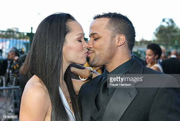 Actors Brook Kerr and Christopher Warren arrive at the 39th NAACP Image Awards held at the Shrine Auditorium on February 14 2008 in Los Angeles...