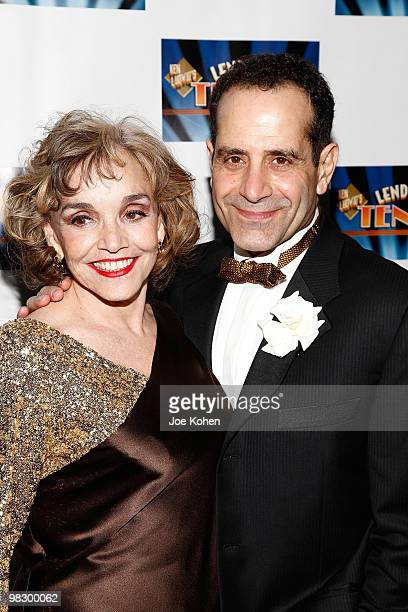 Actors Brooke Adams and and Tony Shalhoub attend the opening night of Lend Me A Tenor at Espace on April 4 2010 in New York City