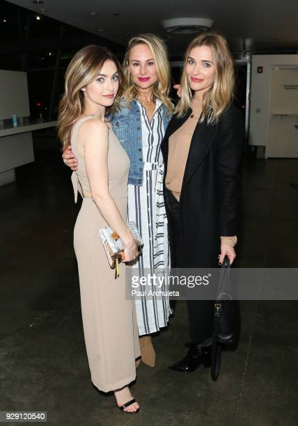 Actors Brooke Lyons Alyshia Ochse and Bre Blair attend the screening for the CW's Life Sentence at The Downtown Independent on March 7 2018 in Los...