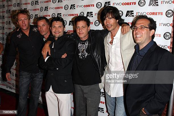 Actors Brooke McCarter Chance Michael Corbitt Corey Feldman Corey Haim Billy Wirth and Jamison Newlander attend the AE Premiere Of 'The Two Coreys'...