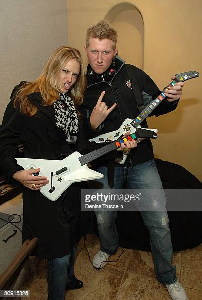Actors Brooke Mueller and Michael Rappaport visit the Iconix Gifting for a Cause Suite produced by Backstage Creations on January 22 2008 in Park...
