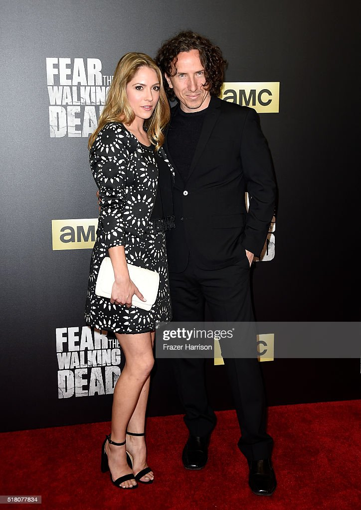 Actors Brooke Nevin (L) and Michael Traynor attend the premiere of AMC's 'Fear The Walking Dead' Season 2 at Cinemark Playa Vista on March 29, 2016 in Los Angeles, California.