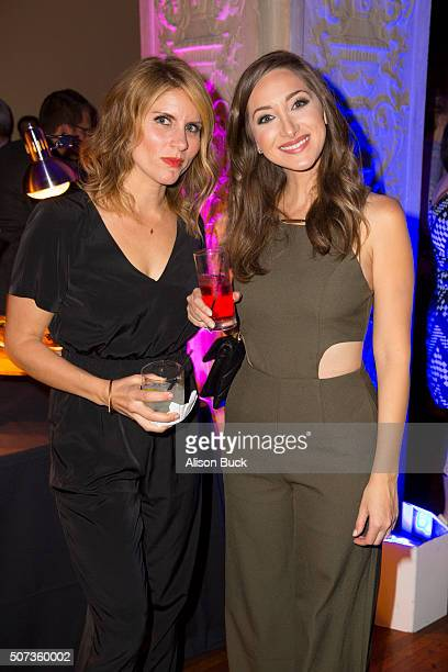 Actors Brooke Van Poppelen and Jamie Lee attend the Premiere Of truTV's Those Who Can't After Party at The Wilshire Ebell Theatre on January 28 2016...