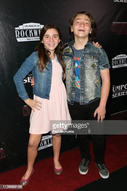 Actors Brooklyn Robinson and Bryson Robinson attend the unauthorized musical parody of 'Stranger Things' special Social Media night performance at...