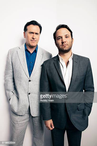 Actors Bruce Campbell and Craig DiGregorio are photographed at the 2015 Summer TCAs for or The Wrap on August 6, 2015 in Hollywood, California.