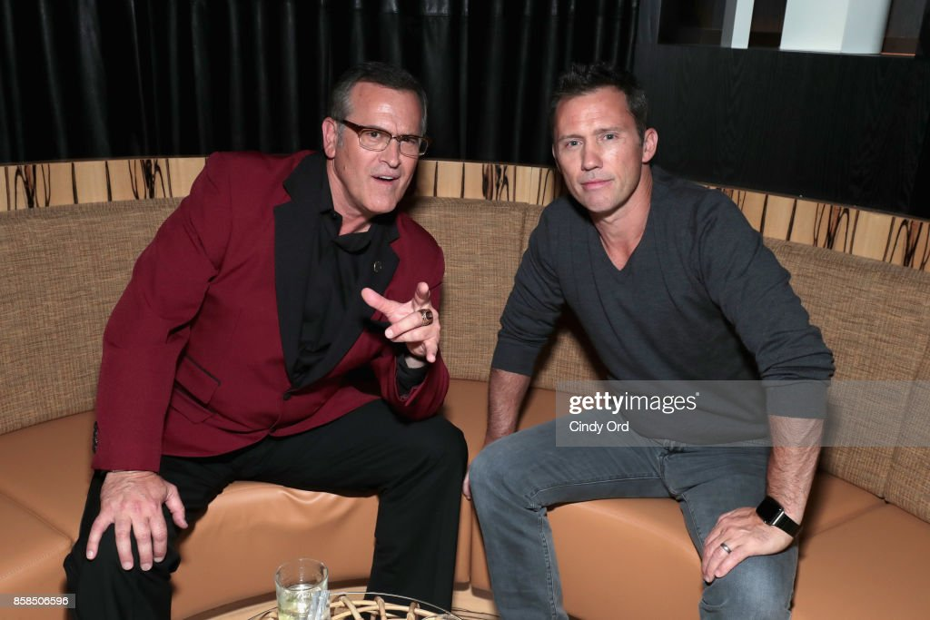 Actors Bruce Campbell and Jeffrey Donovan attend Hulu's New York Comic Con After Party at The Lobster Club on October 6, 2017 in New York City.