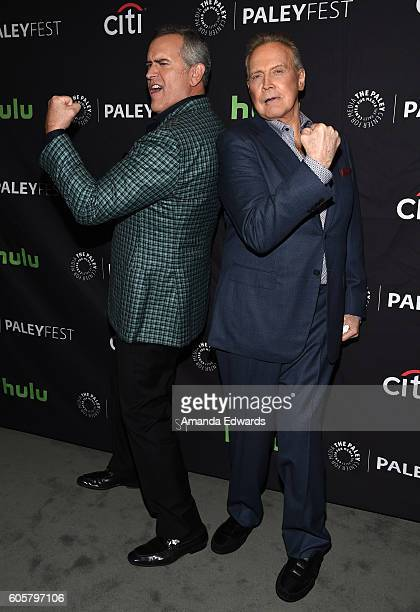 Actors Bruce Campbell and Lee Majors arrive at The Paley Center for Media's PaleyFest 2016 Fall TV Preview for STARZ at The Paley Center for Media on...