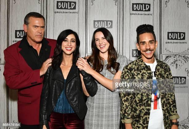 Actors Bruce Campbell Dana DeLorenzo Arielle CarverO'Neill and Ray Santiago visit Build to discuss 'Ash Vs Evil Dead' at Build Studio on October 6...