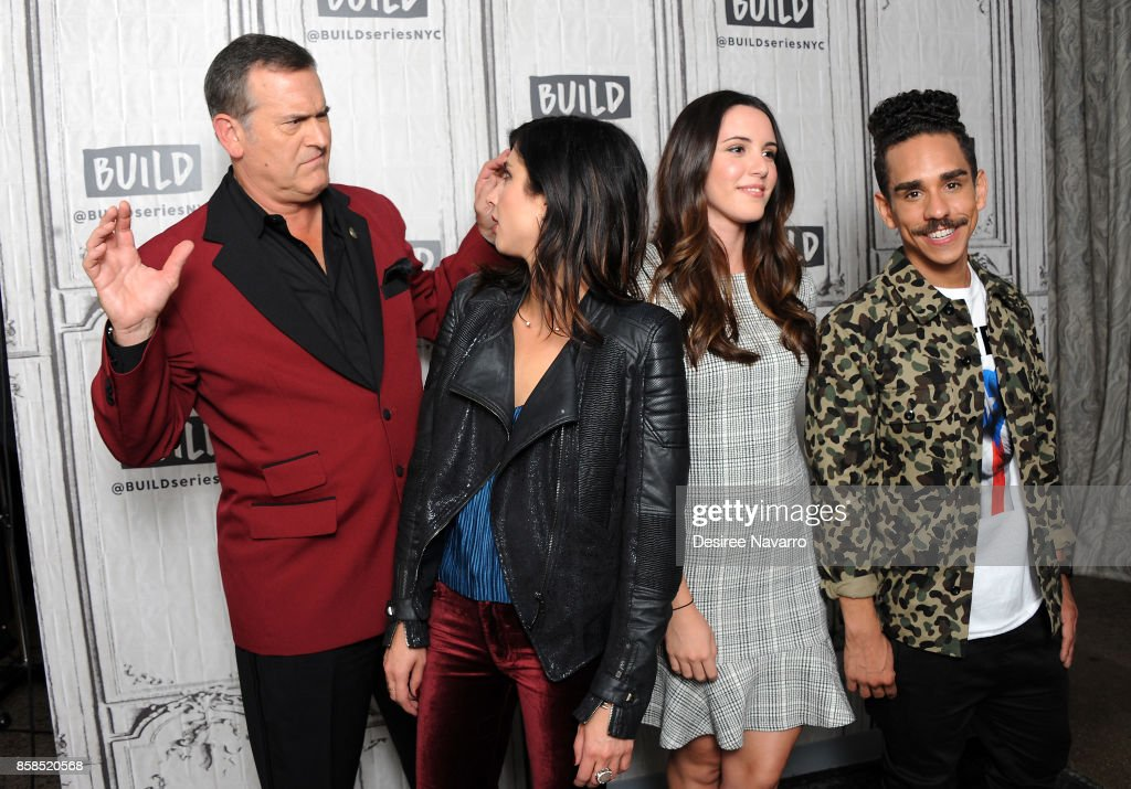 Actors Bruce Campbell, Dana DeLorenzo, Arielle Carver-O'Neill and Ray Santiago visit Build to discuss 'Ash Vs Evil Dead' at Build Studio on October 6, 2017 in New York City.