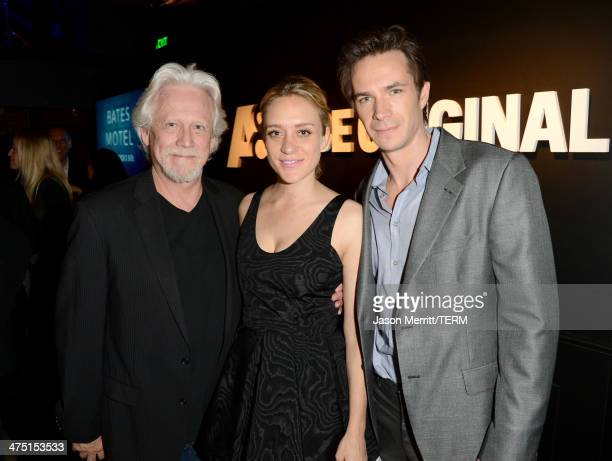 Actors Bruce Davison Chloe Sevigny and James D'Arcy attend AE's Bates Motel and Those Who Kill Premiere Party at Warwick on February 26 2014 in...