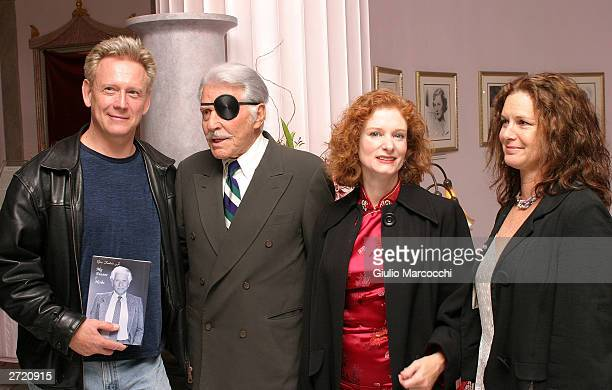 Actors Bruce Davison Efrem Zimbalist Jr Lisa Pelikan and Stephanie Zimbalist Jr attend My Dinner of Herbs event at The Hollywood History Museum on...