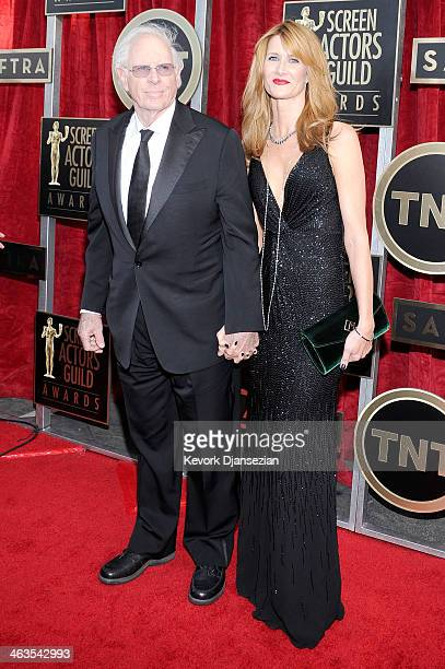 Actors Bruce Dern and Laura Dern attend the 20th Annual Screen Actors Guild Awards at The Shrine Auditorium on January 18 2014 in Los Angeles...