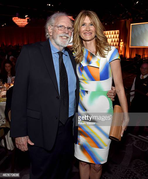 Actors Bruce Dern and Laura Dern attend the 87th Annual Academy Awards Nominee Luncheon at The Beverly Hilton Hotel on February 2 2015 in Beverly...