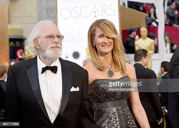 Actors Bruce Dern and Laura Dern attend the 87th Annual Academy Awards at Hollywood Highland Center on February 22 2015 in Hollywood California