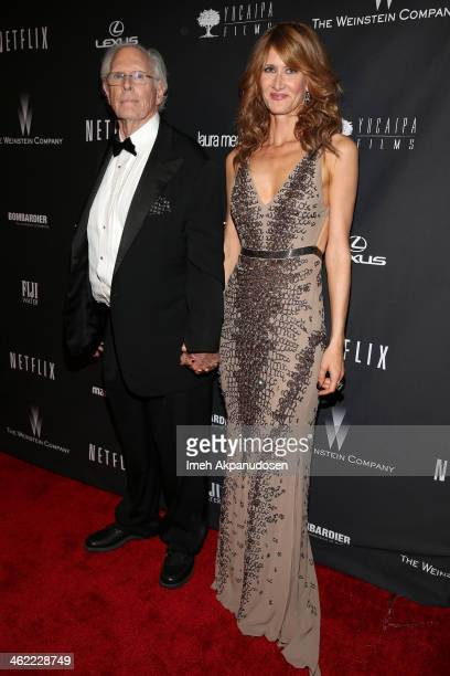 Actors Bruce Dern and Laura Dern attend The Weinstein Company Netflix's 2014 Golden Globes After Party presented by Bombardier FIJI Water Lexus Laura...