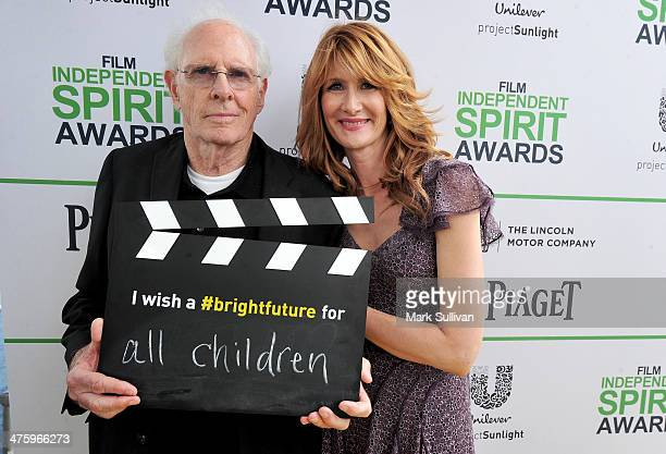 Actors Bruce Dern and Laura Dern call ACTION to create a brighter future for all children on the Yellow Carpet presented by Unilever Project Sunlight...