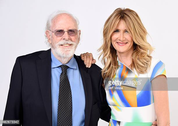 Actors Bruce Dern and Laura Dern pose for a portrait during the 87th Academy Awards Nominee Luncheon at The Beverly Hilton Hotel on February 2 2015...