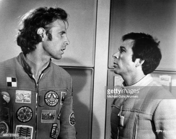 Actors Bruce Dern and Ron Rifkin on set the movie 'Silent Running' circa 1972