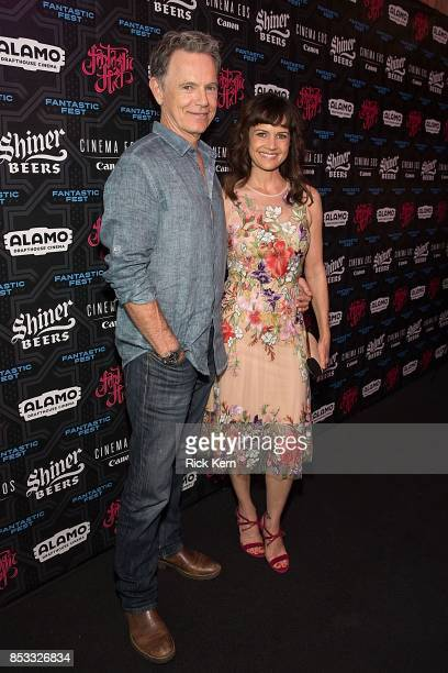 Actors Bruce Greenwood and Carla Gugino at the Netflix Films Gerald's Game Premiere at Fantastic Fest at the Alamo Dragthouse on September 24 2017 in...