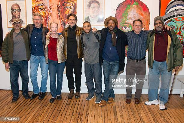 Actors Bruce Kronenberg, Roger Waters, Kathleen Chalfant, Chris Sarandon, JD Williams, Curtis McClarin, Danton Stone and William Marshall attend the...
