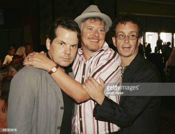 Actors Bruce McCulloch Dave Foley and Kevin McDonald pose at the afterparty for the premiere of Disney Picture's Sky High at Hollywood and Highland...