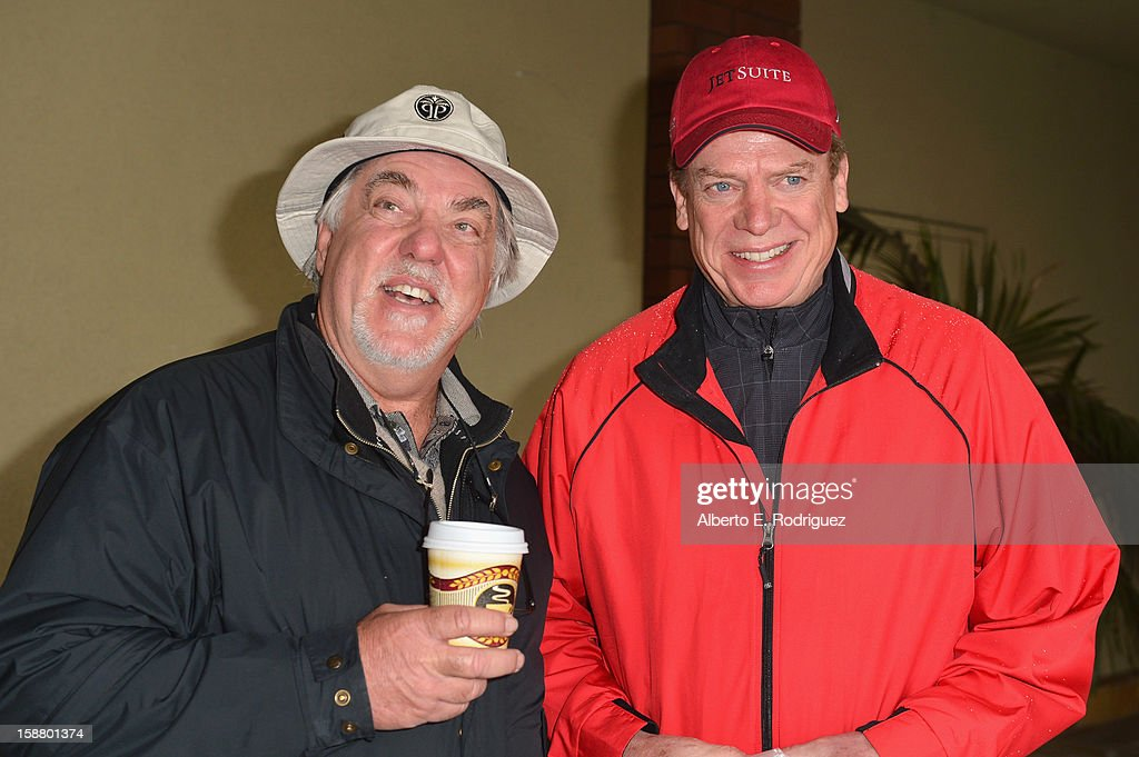 Actors Bruce McGill and Christopher McDonald arrive to the innaugural Rose Bowl Game Golf Classic at Industry Hills Golf Course on December 29, 2012 in City of Industry, California.