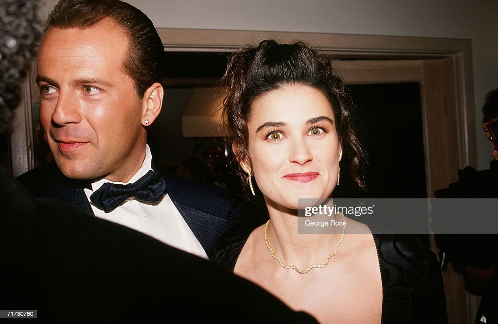 Bruce Willis & Demi Moore Attend Oscar Party : News Photo