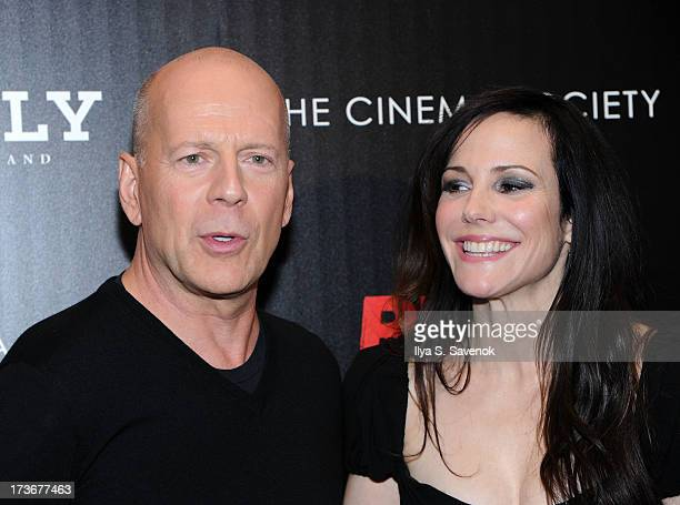 "Actors Bruce Willis and Mary-Louise Parker attend The Cinema Society And Bally Host A Screening Of Summit Entertainment's ""Red 2"" at The Museum of..."