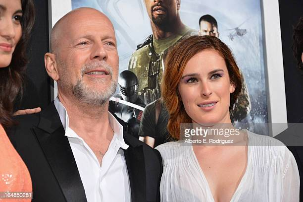 Actors Bruce Willis and Rumer Willis attend the premiere of Paramount Pictures' GI Joe Retaliation at TCL Chinese Theatre on March 28 2013 in...