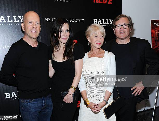 Actors Bruce Willis, Mary-Louise Parker, Helen Mirren and director Dean Parisot attend The Cinema Society And Bally Host A Screening Of Summit...