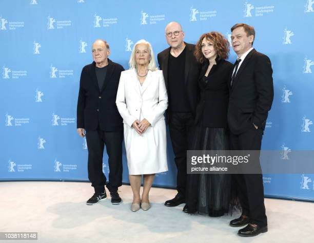 Actors Bruno Ganz , Hildegard Schmahl, director Matti Geschonneck and actrors Evgenia Dodina and Sylvester Groth at the 67th Berlinale Film Festival...