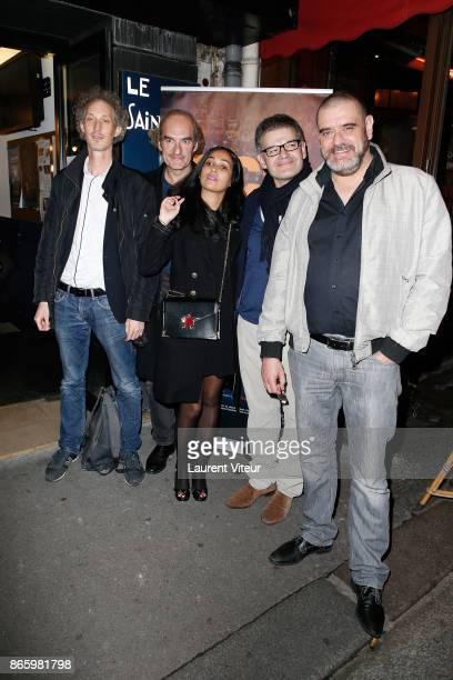 Actors Bruno Gouery Michel Vuillermoz Actress Nabiha Akkari Actors JeanMichel Lahmi and Michael VanderMeiren attend 'Alphonse President' Screening...