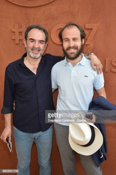 Actors Bruno Solo and Antoine Gouy attend the 2017 French Tennis Open Day Four at Roland Garros on May 31 2017 in Paris France