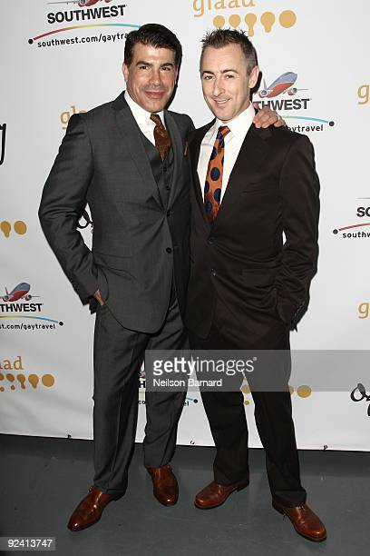 Actors Bryan Batt and Alan Cumming attend the 2009 GLAAD Media Awards at New World Stages on October 27 2009 in New York City