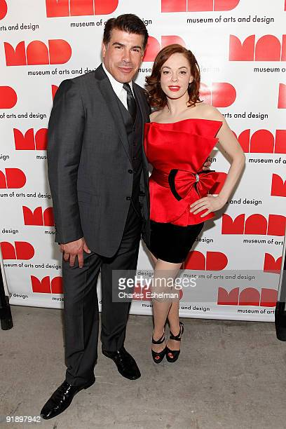 Actors Bryan Batt and Rose McGowan attend the 2009 MAD Paperball Gala at Museum of Art and Design on October 14 2009 in New York City