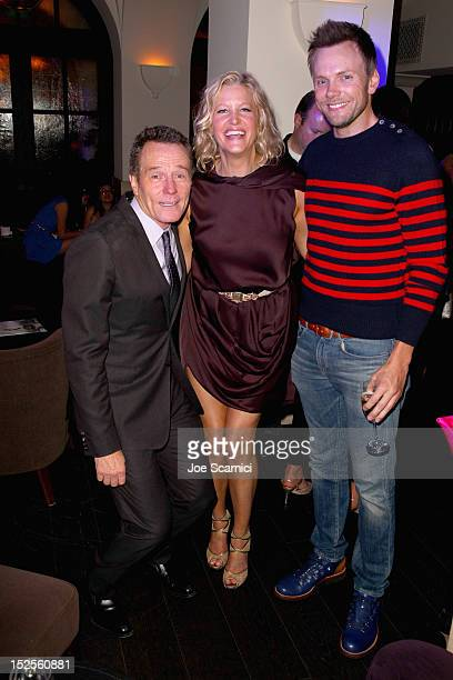 Actors Bryan Cranston actress Anna Gunn and actor Joel McHale attend Variety and Women in Film PreEMMY Event presented by Saint Vintage at Scarpetta...