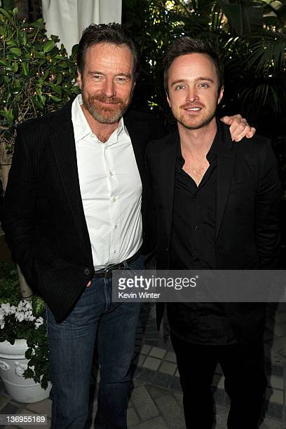 Actors Bryan Cranston and Aaron Paul arrive at the 12th Annual AFI Awards held at the Four Seasons Hotel Los Angeles at Beverly Hills on January 13,...