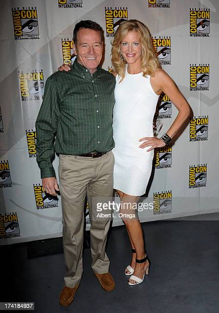 Actors Bryan Cranston and Anna Gunn at the 'Breaking Bad' panel during ComicCon International 2013 at San Diego Convention Center on July 21 2013 in...